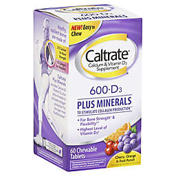 Caltrate® 60-Count Chewable 600+D3 Plus Minerals Tablets in Assorted Fruit