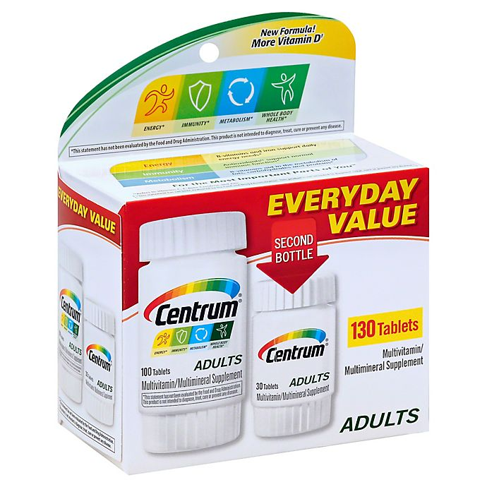 Alternate image 1 for Centrum® 100-Count Multivitamin/Multimineral Supplement Tablets