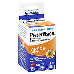 Bausch + Lomb Preservision 50-Count Lutein Soft Gels