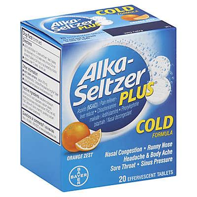 Alka-Seltzer® Plus™ Cold Formula 20-Count Tablets in Orange Zest