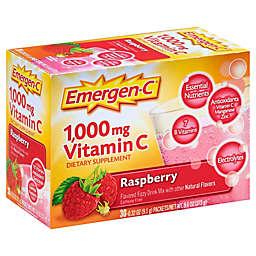 Emergen-C Dietary Supplement 30-Count Fizzy Drink Mix Packets in Raspberry