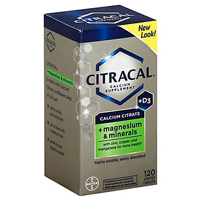 Citracal® + Magnesium 120-Count Calcium Supplement Coated Tablets