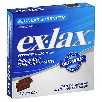 Ex-Lax Chocolate 24-Count Stimulant Laxative Tablets