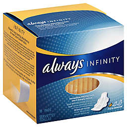 Always Infinity18-Count Regular Pads with Wings