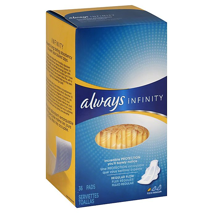 Always Infinity 36-Count Regular Pads | Bed Bath & Beyond
