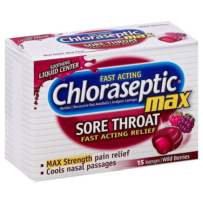 Alternate image 1 for Chloraseptic Max 15-Count Lozenges in Wild Berry