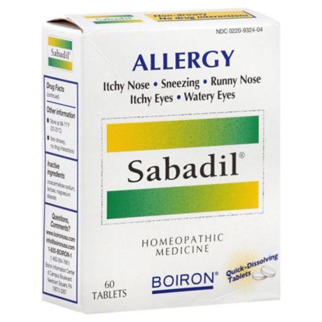 Boiron 60-Count Sabadil-Allergy Tablets | Bed Bath & Beyond