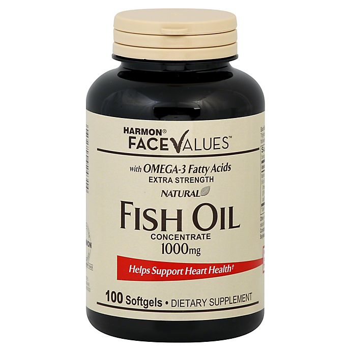 Harmon Face Values 100 Count Extra Strength Natural Fish