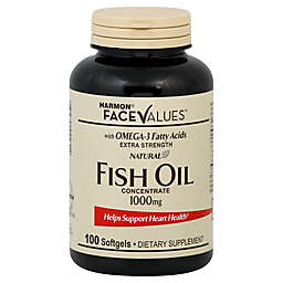 Harmon® Face Values™ 100-Count Extra-Strength Natural Fish Oil Concentrate Softgels