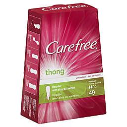 Carefree® Thong 49-Count Regular Unscented Pantiliners