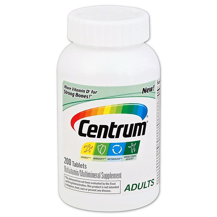 Alternate image 1 for Centrum 200-Count Multivitamin/Multimineral Supplement Tablets