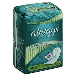 Always Maxi Ultra Thin 40-Count Long Super No Wings
