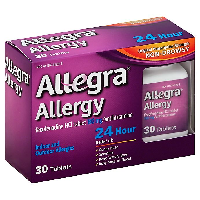 Alternate image 1 for Allegra® Allergy 24 Hour 30-Count Tablets