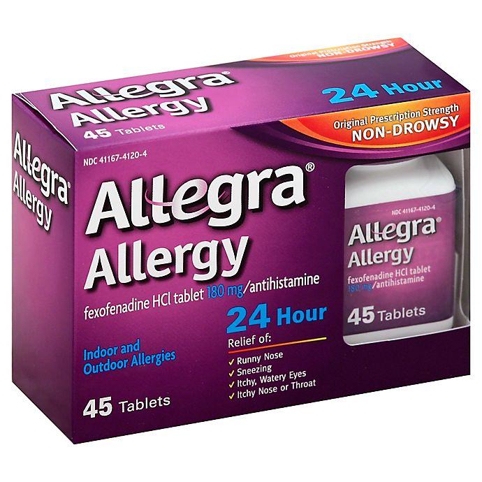 Alternate image 1 for Allegra® Allergy 45-Count 24-Hour Antihistamine