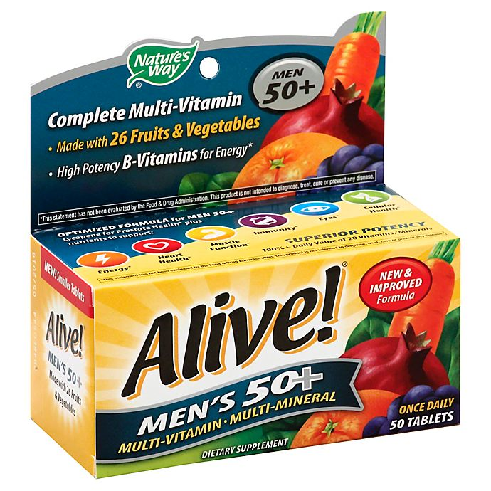 Alive 50 Count Tablet Senior Mens 50 Multivitamin And Multimineral Bed Bath Beyond