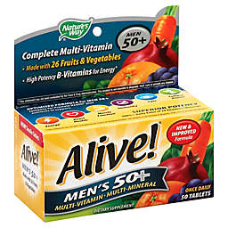 Alive! 50-Count Tablet Senior Mens 50 + Multivitamin and Multimineral