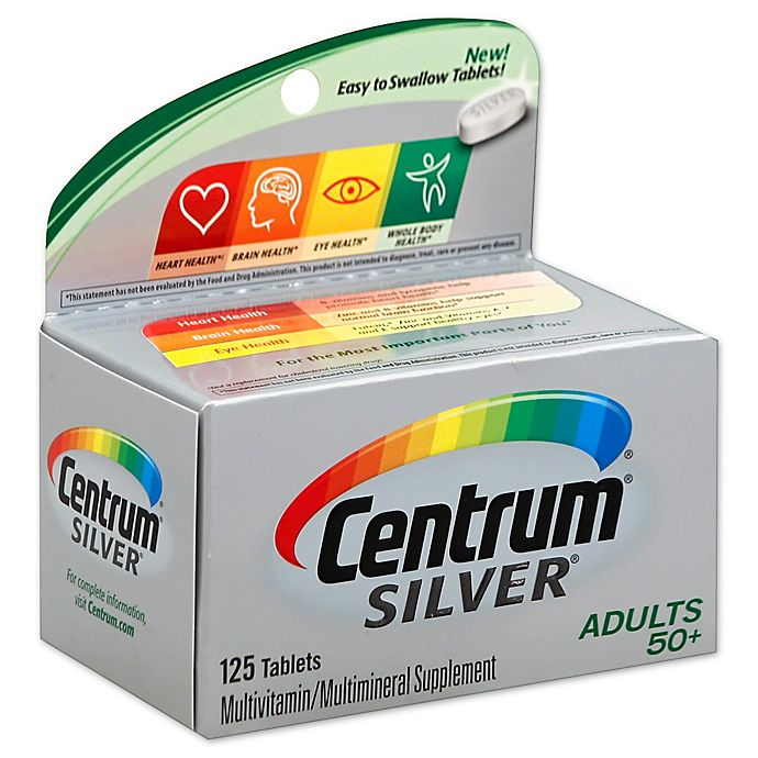 Alternate image 1 for Centrum® Silver® 125-Count Multivitamin/Multimineral Supplement Tablets for Adults 50+