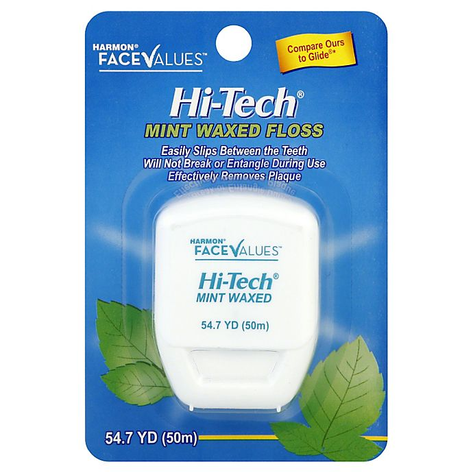 Alternate image 1 for Harmon® Face Values™ Hi-Tech® 54.7 yd. Mint Waxed Dental Floss