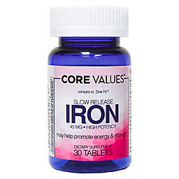 Core Values 30-Count Slow Release 50 mg Iron Tablets