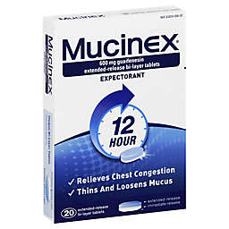 Mucinex® Expectorant 20-Count Extended Release Tablets