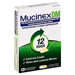 Mucinex® DM 40-Count 600 mg Expectorant and Cough Suppressant Tablets