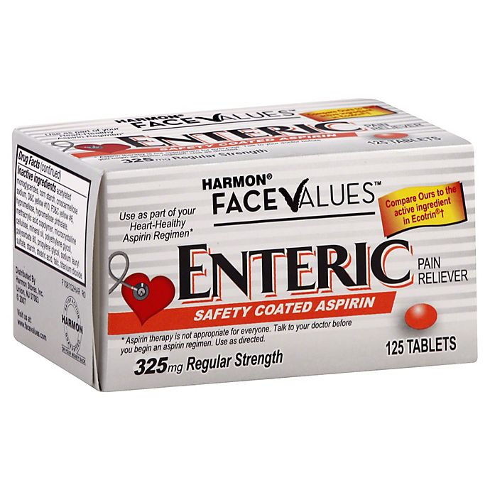 Alternate image 1 for Harmon® Face Values™ 125-Count Enteric Safety Coated Aspirin Tablets