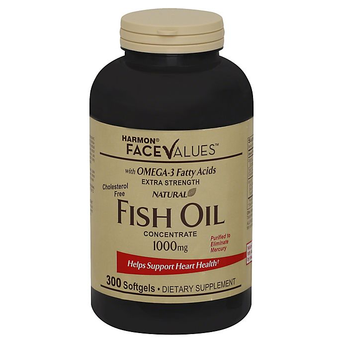 Alternate image 1 for Harmon® Face Values™ 300-Count Extra-Strength Natural Fish Oil Concentrate Softgels