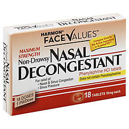 Harmon® Face Values™ Maximum Strength Nasal Decongestant 18-Count Tablets