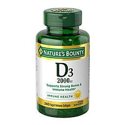 Nature's Bounty 240-Count Vitamin D 2000 IU Tablets
