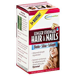 Applied Nutrition® Longer Stronger Hair & Nails® 60-Count Dietary Supplement Soft-Gels
