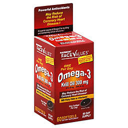 Harmon® Face Values™ 60-Count One Per Day Omega-3 Krill Oil 300 mg Softgels