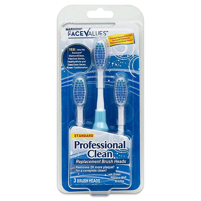 Alternate image 1 for Harmon® Face Values™ 3-Count Professional Clean Replacement Brush Heads