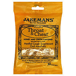 Jakemans® Throat & Chest 30-Count Menthol Lozenges in Honey Lemon