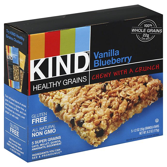 Kind® Healthy Grains 5-Pack Vanilla Blueberry Granola Bars | Bed