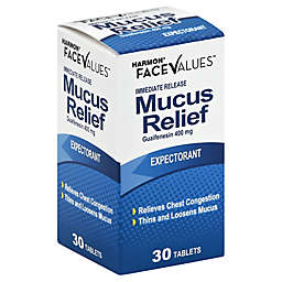 Harmon® Face Values™ 30-Count Immediate Release Mucus Relief Expectorant Tablets