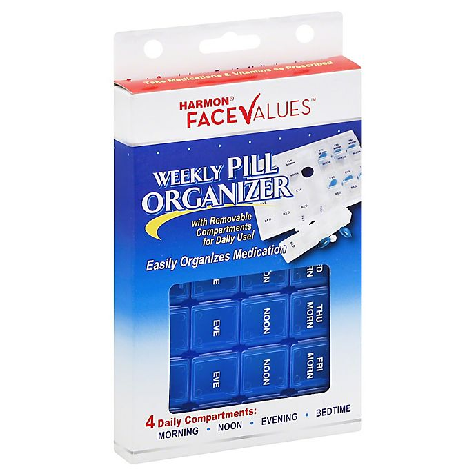 Alternate image 1 for Harmon® Face Values™ Weekly Pill Organizer Box