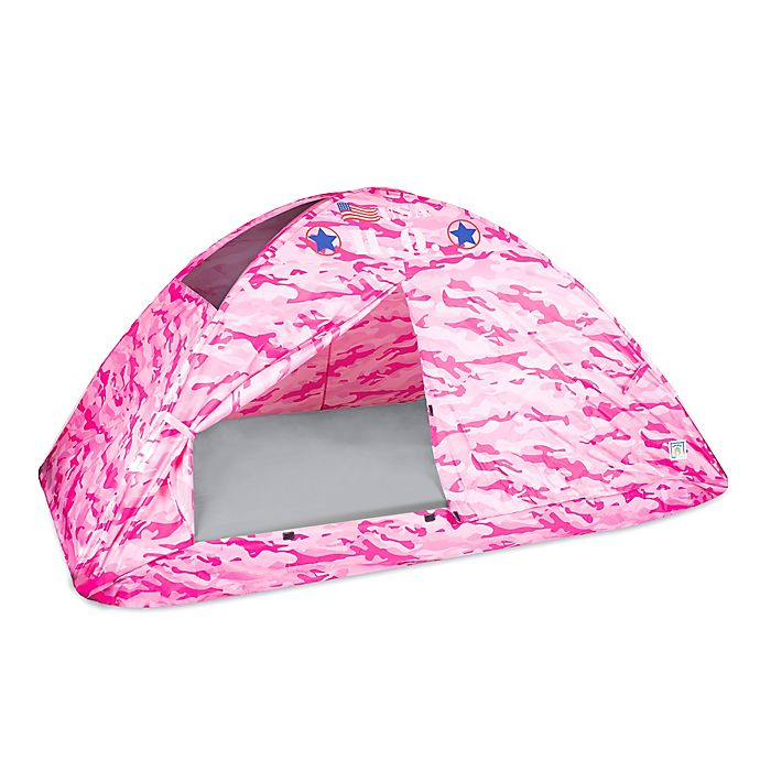 Pacific Play Tents H Q Camo Twin Bed Tent In Pink Bed