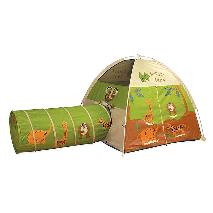 Alternate image 1 for Pacific Play Tents Jungle Safari Tent & Tunnel Combo Set