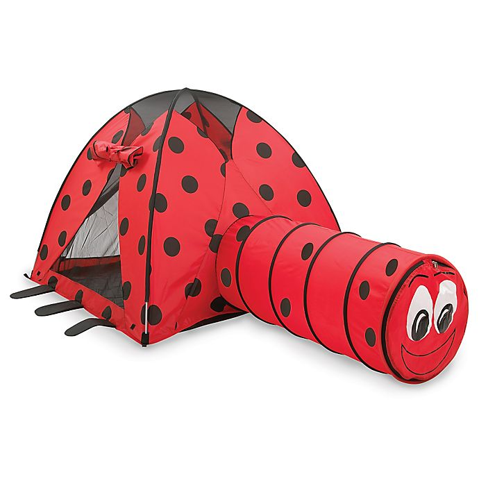 Alternate image 1 for Pacific Play Tents Ladybug Tent & Tunnel Combo Set