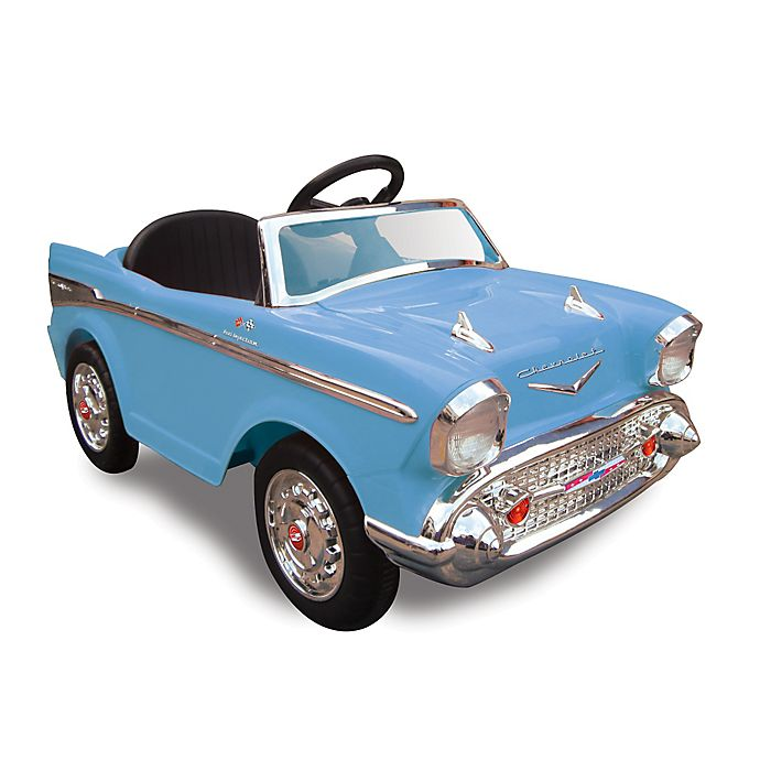 Alternate image 1 for Kid Motorz Chevy Bel Air 1-Seater 12-Volt Ride-On in Blue
