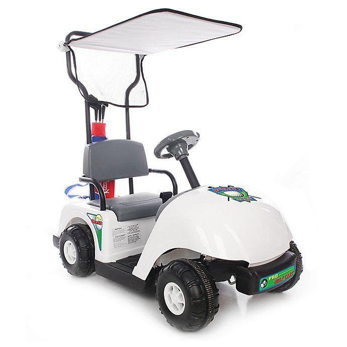 Alternate image 1 for Kid Motorz Jr. Pro Golf Cart 6-Volt Ride-On in White