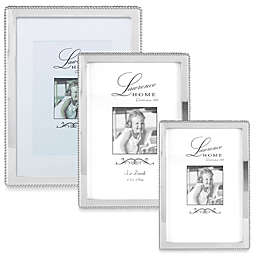Lawrence Frames Silver-Plated Picture Frame with Beading