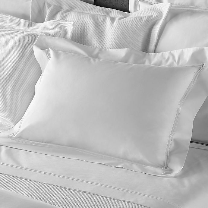 Alternate image 1 for Frette At Home Piave Queen Sheet Set in White/White