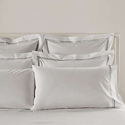 Frette At Home Piave Queen Sheet Set in White/Grey