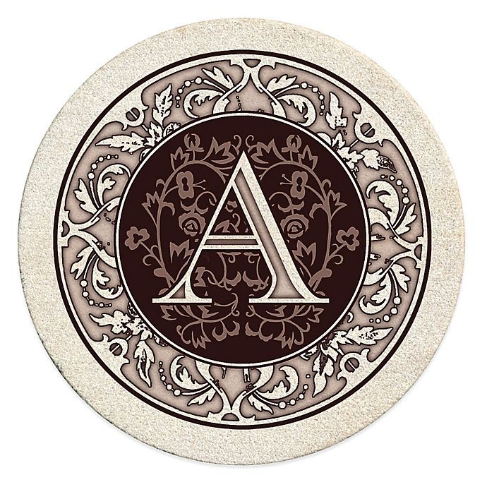 Alternate image 1 for Monogram Coasters and Coaster Holders
