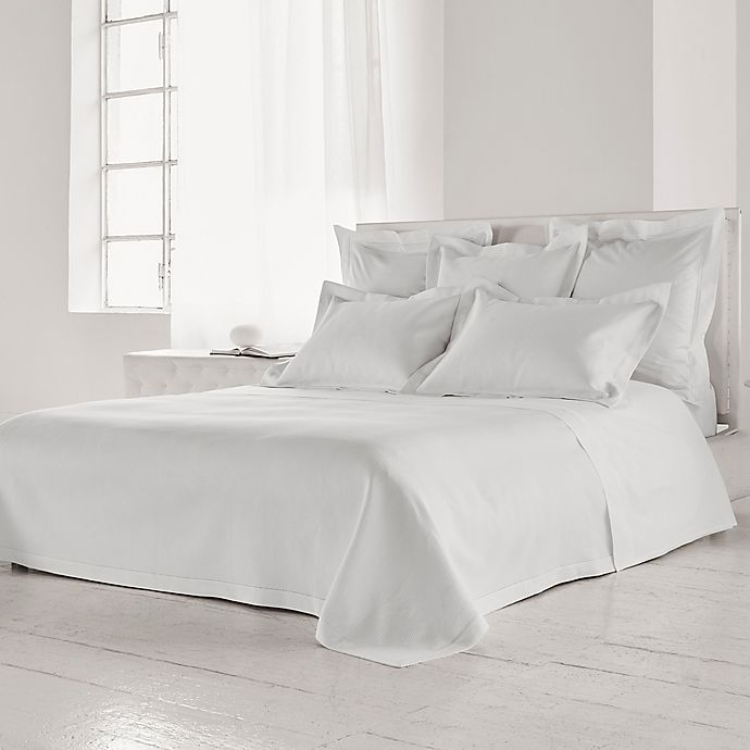 Alternate image 1 for Frette At Home Creta Queen Coverlet in White
