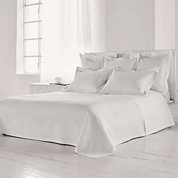 Frette At Home Creta Queen Coverlet in White