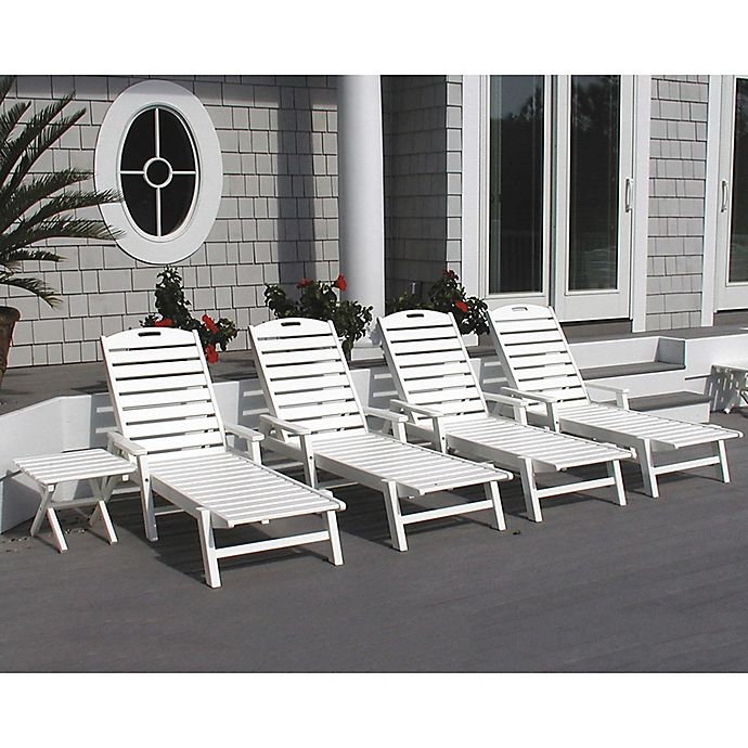 Alternate image 1 for POLYWOOD® Nautical Chaise with Arms