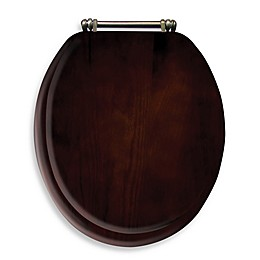 Ginsey Round Toilet Seat in Wood
