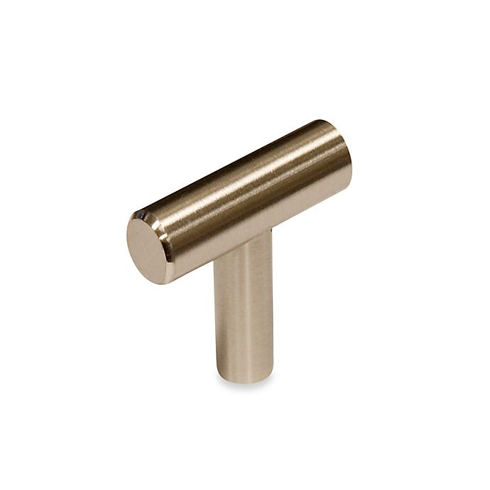 Alternate image 1 for Richelieu Contemporary Metal Knob in Brushed Nickel